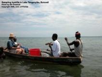Sampling Hydrilla in Burundi